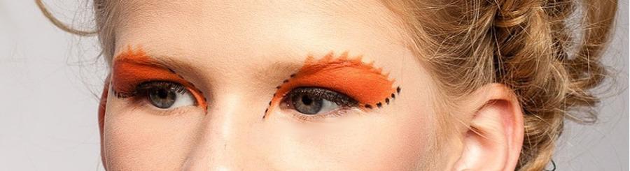 оранжевый аквагрим вокруг глаз